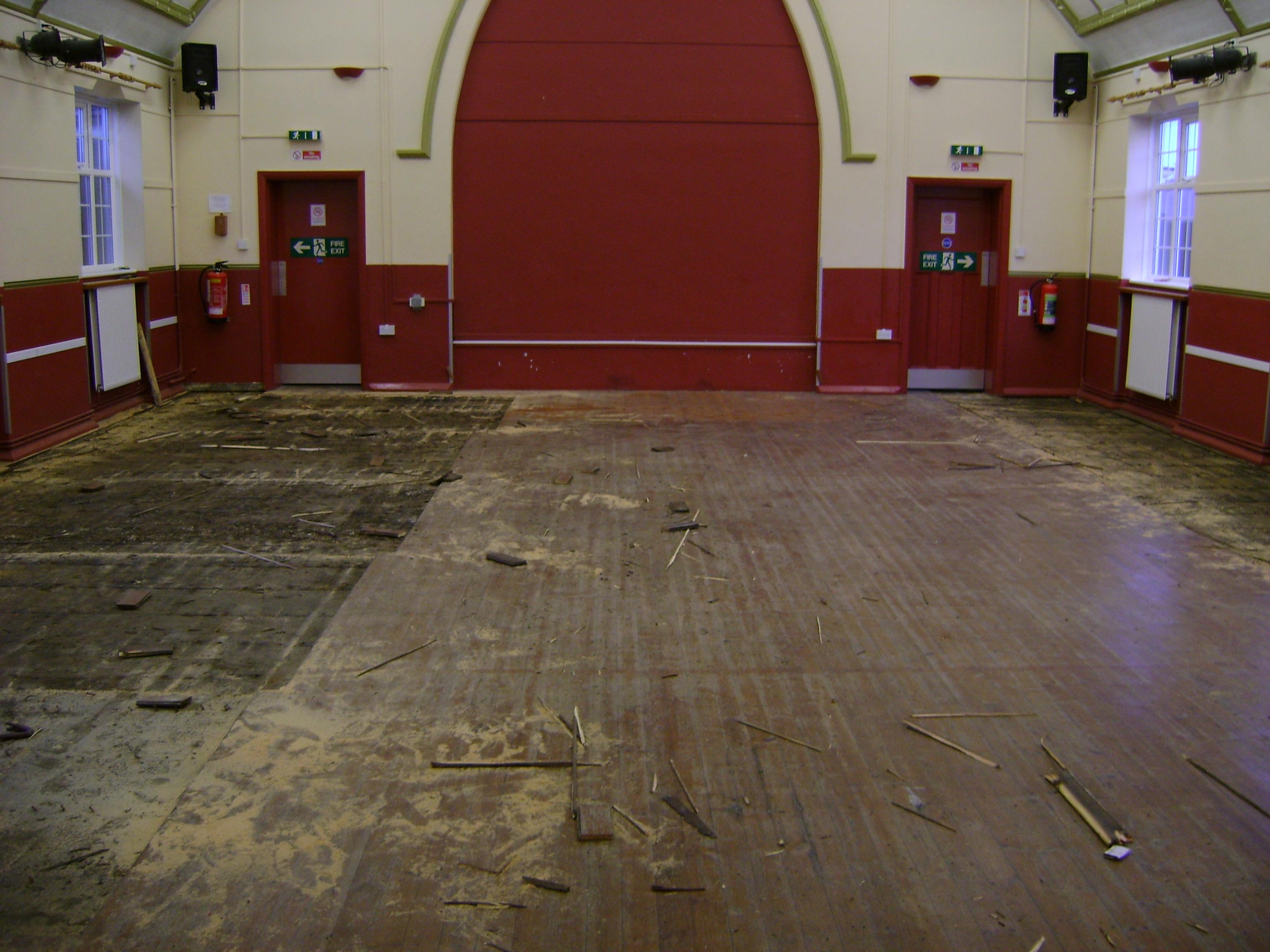 Pitsea Church Hall Floor Restoration Before
